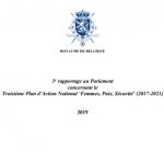 Le troisième PAN belge « Femmes, Paix et Sécurité et le rapportage concernant les actions réalisées en 2019