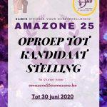 Oproep tot nominaties: 25 jaar Amazone