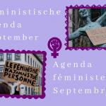 📆 September Feministiche Agenda /  Agenda féministe septembre 📆