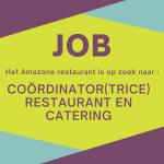 JOB – Amazone is op zoek naar een coördinator(trice) restaurant en catering